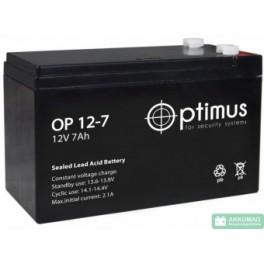 Аккумулятор 12В 7 Ач (OP 1207)