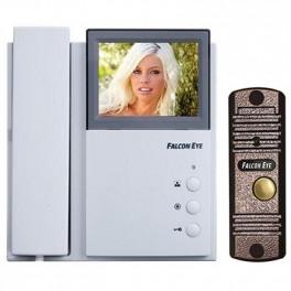 Комплект видеодомофона Falcon Eye FE-4CHP2 + FE-305C медь